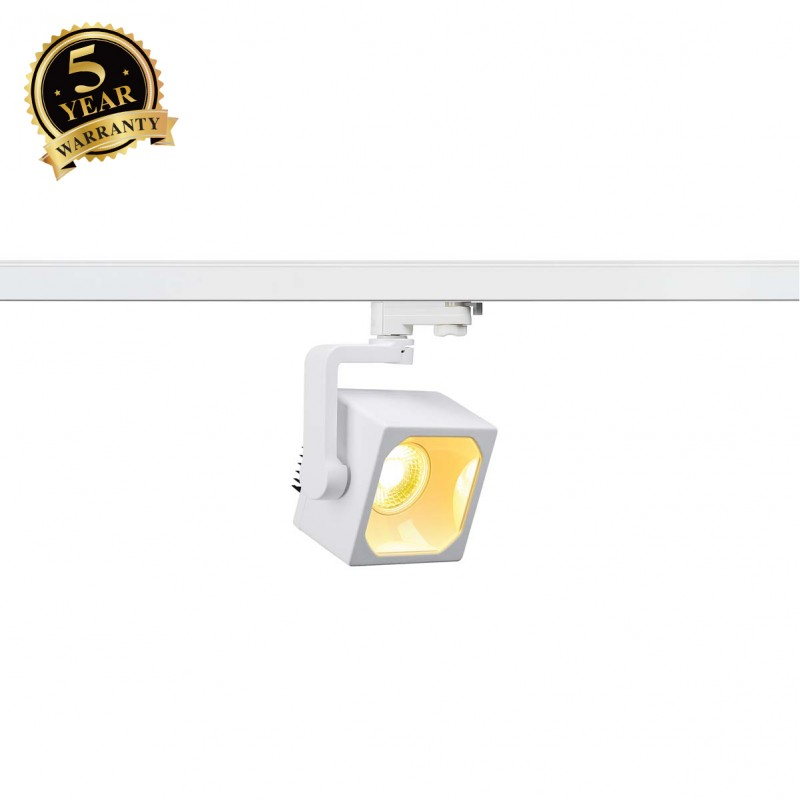 SLV 152741 EURO CUBE SPOT, white, 30°,3000K COB LED, CRI90, incl.3-circuit adapter