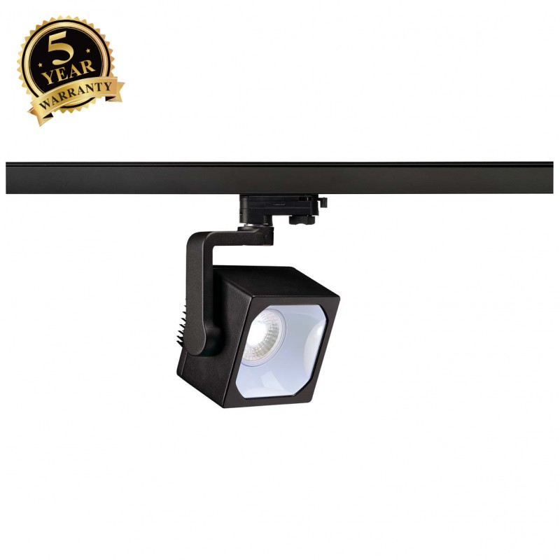 SLV 152770 EURO CUBE SPOT, black, 30°,4000K COB LED, CRI90, incl.3-circuit adapter