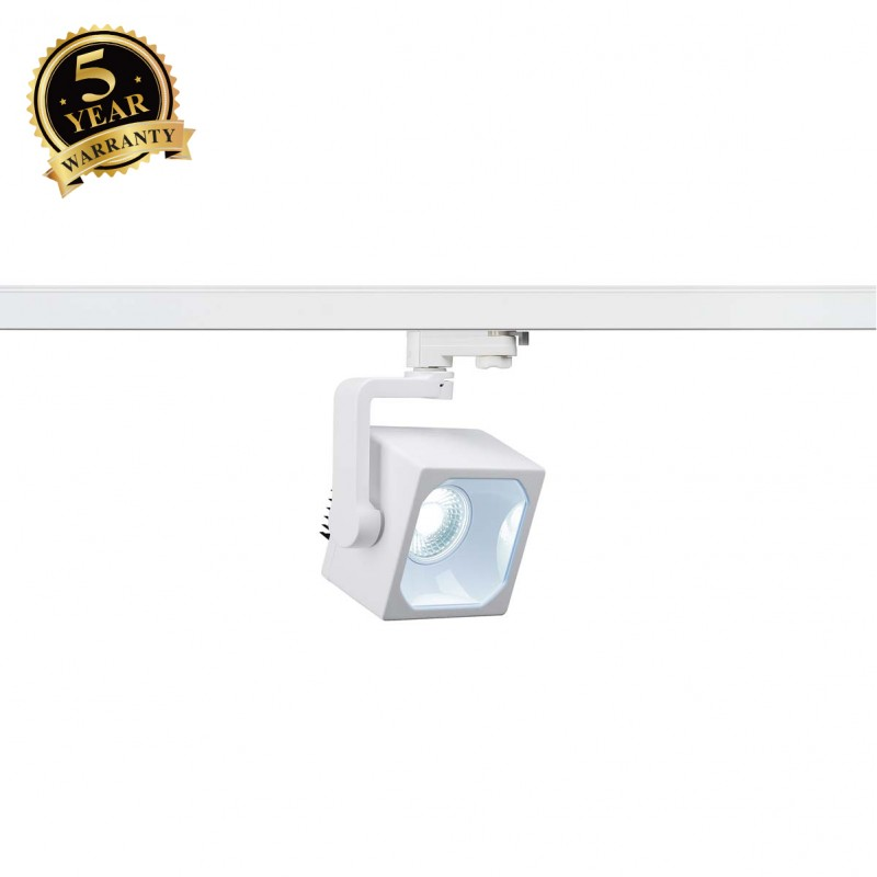 SLV 152771 EURO CUBE SPOT, white, 30°,4000K COB LED, CRI90, incl.3-circuit adapter