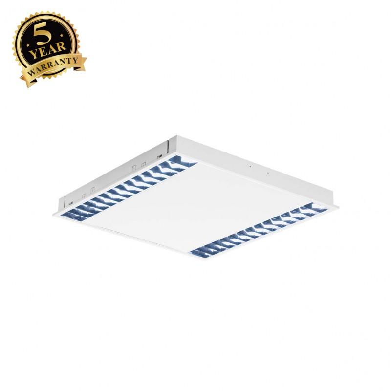 SLV 158901 RASTO, recessed ceiling light for grid ceilings, LED, 4000K, white, L/W 59.6/59.6 cm, 4000lm, 39W