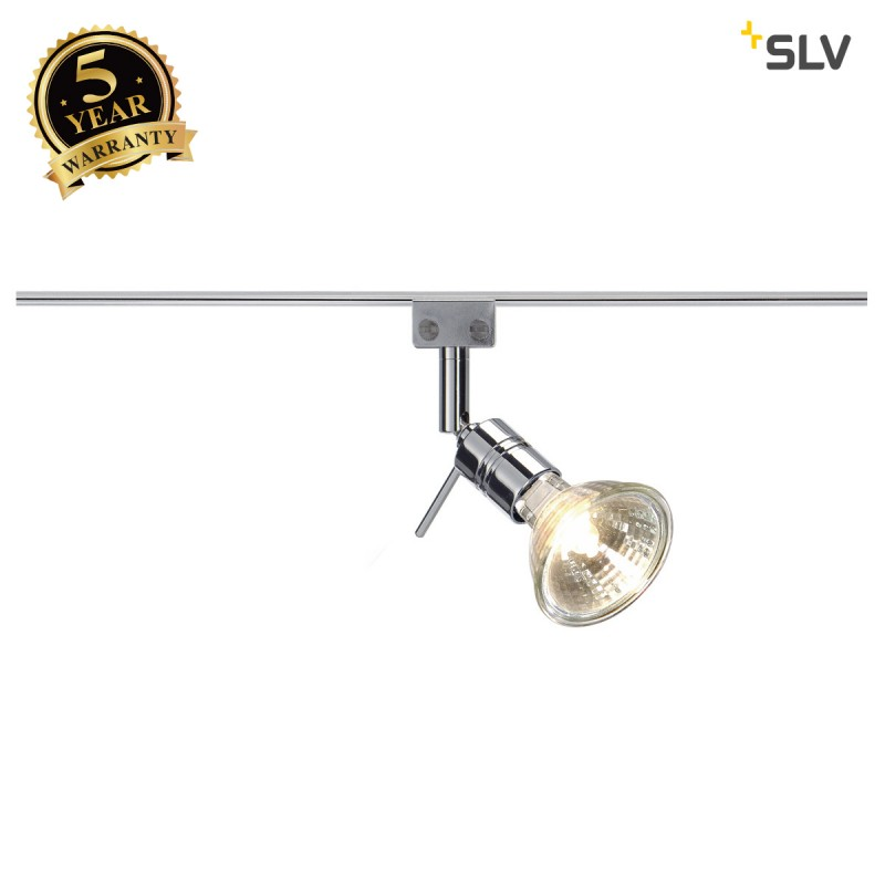SLV 186272 Solo 90° lamp head for GLU-TRAX, chrome, MR16, max. 35W,adjustable