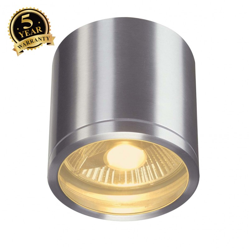SLV 229756 ROX CEILING OUT ceiling light,round, alu brushed, ES111,max. 75W