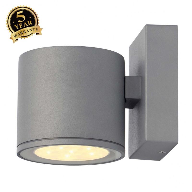 SLV 230332 SITRA 6x 1W LED wall light,silver-grey, 3000K, IP44