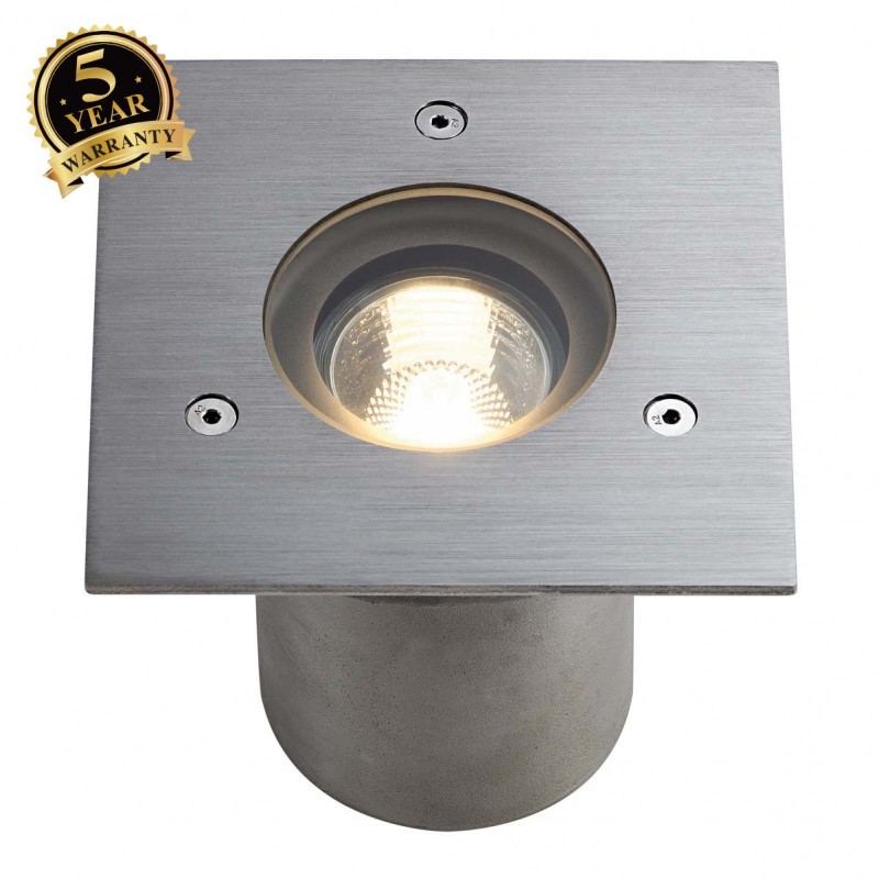 SLV 230914 N-TIC PRO GU10 ingroundfitting, square, stainlesssteel 316, max. 35W, IP67