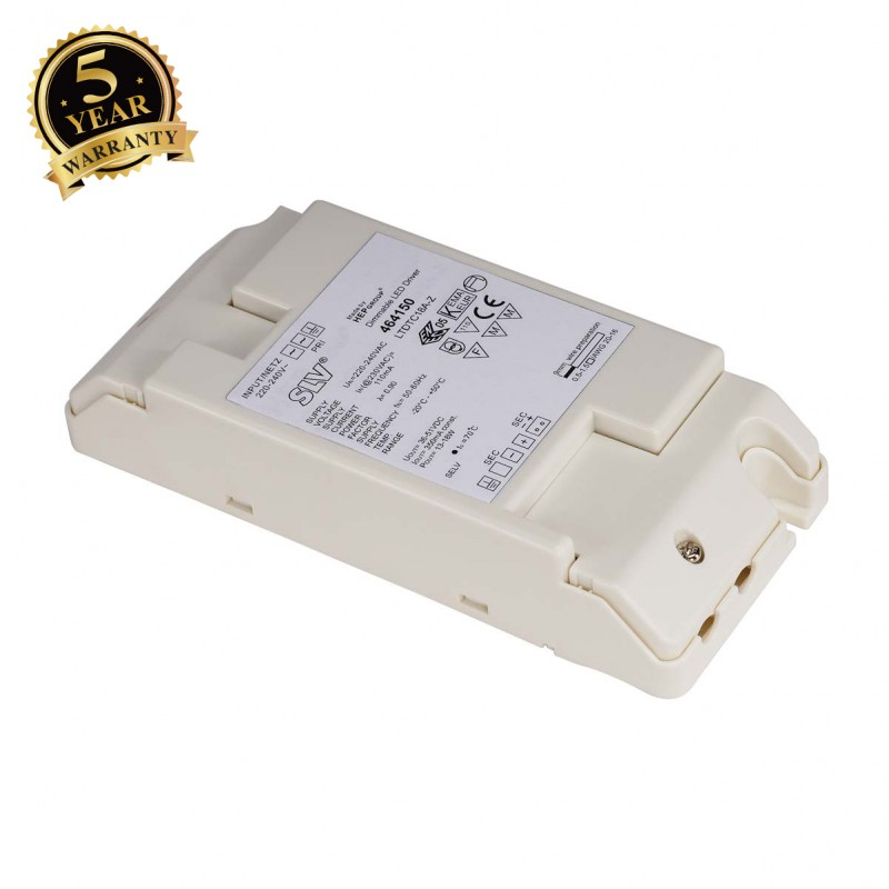 SLV 464150 LED DRIVER, 18W, 350mA, incl.strain-relief, dimmable