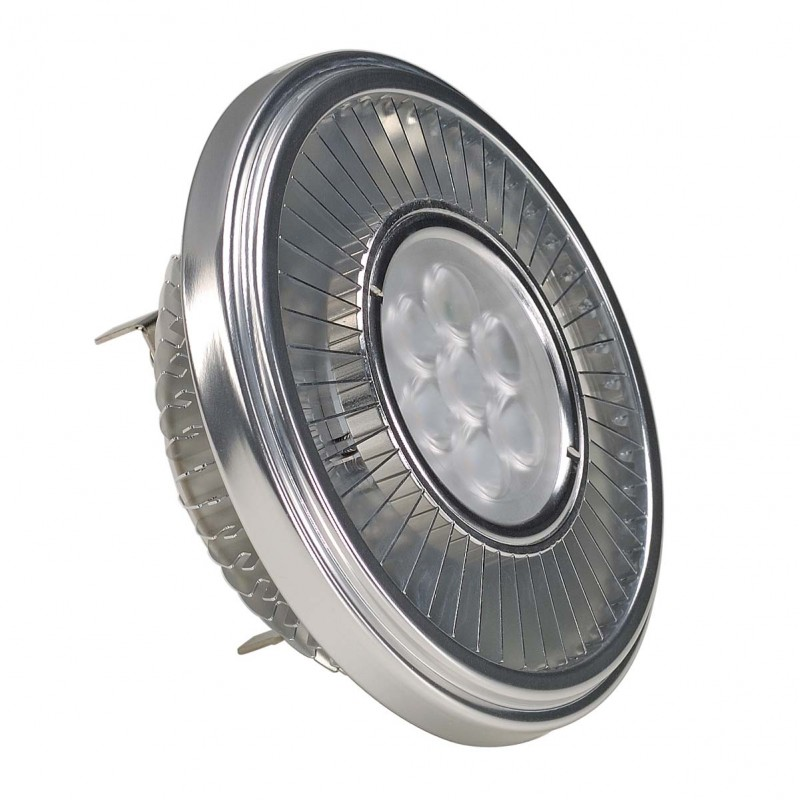 SLV 551400 LED QRB111 lamp, silver-grey,19.5W, 30°, 4000K, dimmable