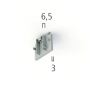 EUTRAC DALI 555 0 1217 3 END CAP FOR EUTRAC SURFACE MOUNTED TRACK, SILVER