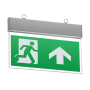 Knightsbridge EMSWING 4W LED Cool White Emergency Exit Sign Commercial Suspended Ceiling Light Aluminium