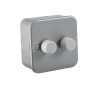 Knightsbridge M2162 Metal Clad 2G 2 Way 60-400W Dimmer