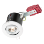 Knightsbridge VFRSGICW 230V IP20 50W GU10 IC Fire-Rated Tilt Downlight White